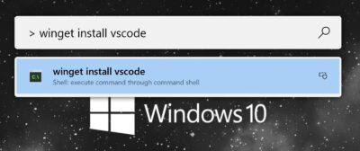 PowerToys Run Shell Command with winget install vscode