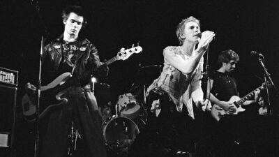 The Sex Pistols playing live.